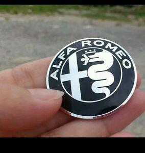 Alfa-Romeo-Emblem-Badge-40mm-STEERING-Wheel-hard-sticker-black