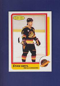 Stan-Smyl-1986-87-O-PEE-CHEE-OPC-Hockey-50-MINT-Vancouver-Canucks