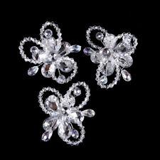 MINI Hair Claw Clip Rhinestone Crystal Hairpin Bridal Wedding Flower Clear 90
