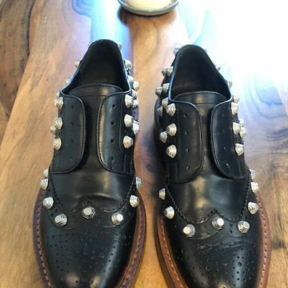 99004ac091115 Balenciaga Balenciaga Balenciaga Arena Studded Leather Oxfords 36.5 ...