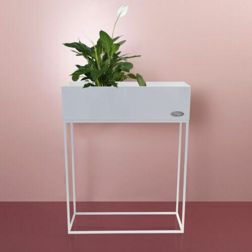Pflanzkasten /'Verona/' Blumenständer Blumenkasten Hochbeet 55x20x70cm Weiß