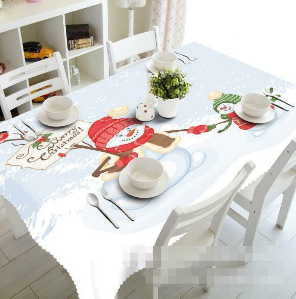3D Snowman 455 Tablecloth Table Cover Cloth Birthday Party Event AJ WALLPAPER AU