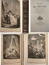 Voltaire La pucelle 1825 demi maroquin 25 gravures ex blanc grandes marge