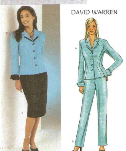 2003 David Warren Jacket Skirt Pants Pattern Choice Size 6-22 Butterick 3918 OOP