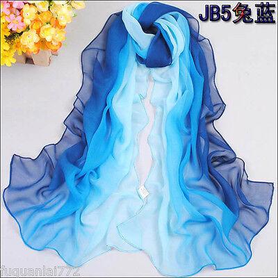 Fashion Women Long Print long 100% silk scarf Wrap Ladies Shawl Girls Large