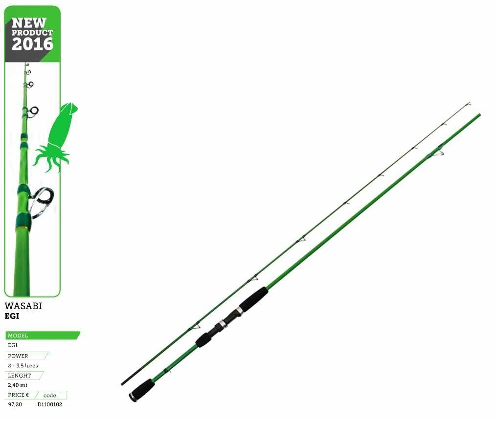 CANNA TICA WASABI EGI SEPPIA CALAMARO 2,40 mt power 2 3,5 LURES