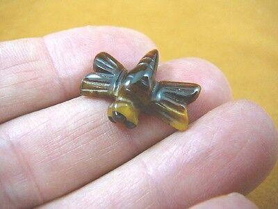 """1/"""" TIGEREYE flying Dragonfly gemstone FIGURINE gem carving insect Y-DRAG-503"""