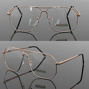 d722588185fe Mens Womens Retro Metal Frame Clear Lens aviator driving Designer ...