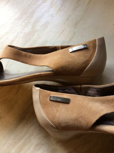 6 Size 5 Out Cut Calvin Klein sandals Suede wFnYzq