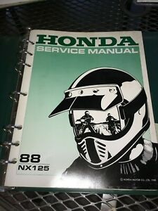 GENUINE-HONDA-SERVICE-SHOP-MANUAL-NX-125-1988-Ry24a