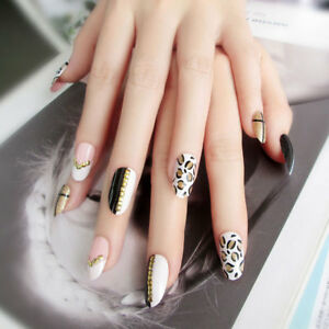 24pcs-Leopard-Fake-Nails-Art-Tips-Acrylic-Nail-False-Full-Cover-Manicure-Decor