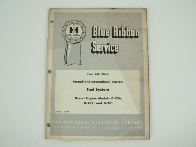 Service Manual Fuel System Diesel Engines D 282  301