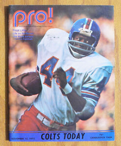Vintage-1972-San-Francicso-49ers-vs-Baltimore-Colts-Football-Program-Unitas