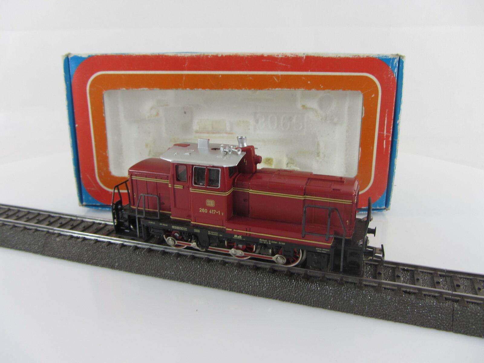 3065 DIESEL BR 260 417-1 delle DB in rosso, con telex FRIZIONE E OVP