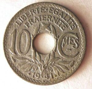 1941-Francia-10-Centimos-Au-Coleccion-Moneda-Ganga-Bin-304
