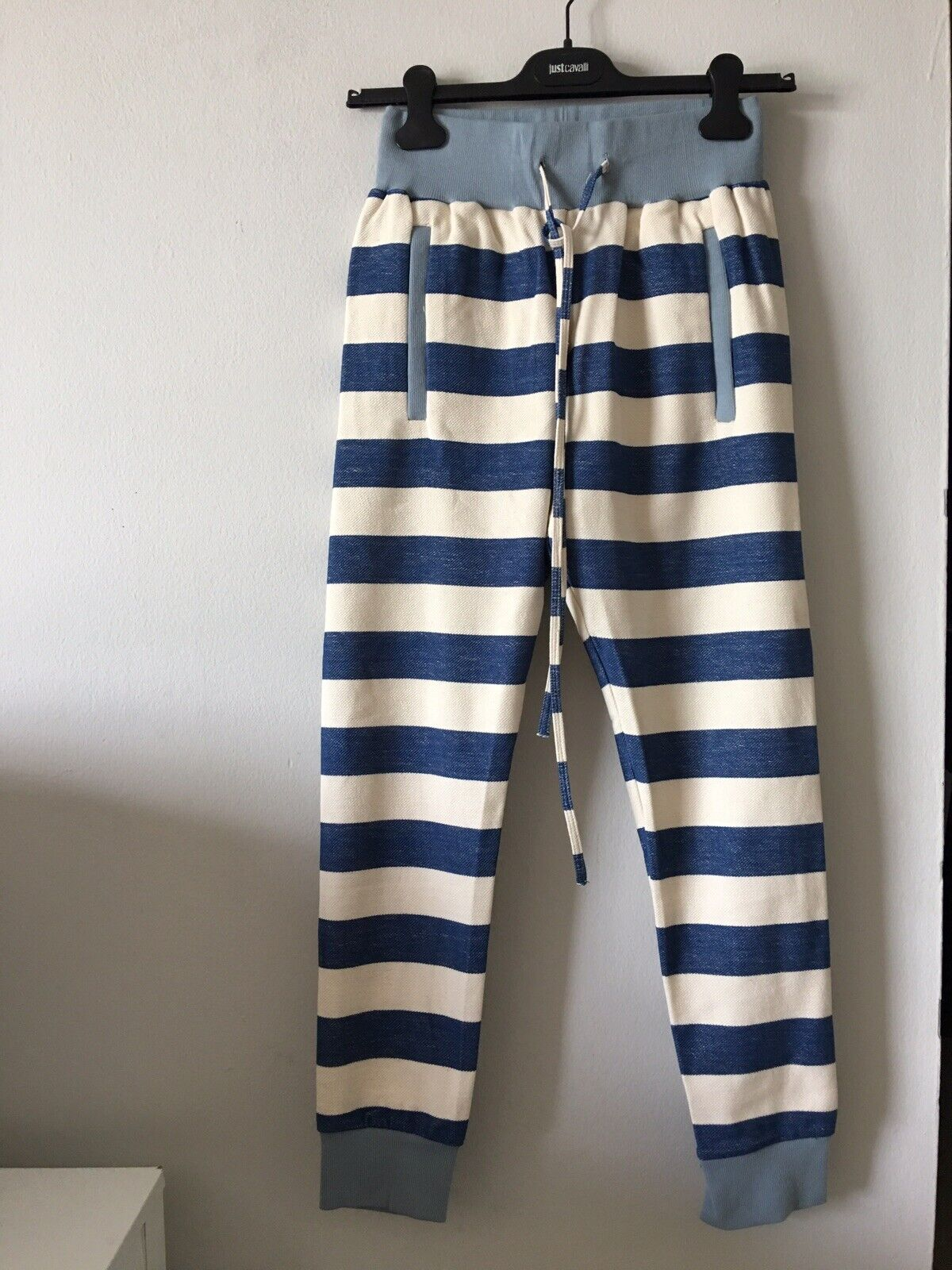 NWT THADDEUS O'NEIL STRIPED COTTON BLEND JOGGERS PANTS Größe S MADE IN USA