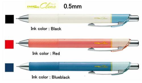 0.5mm,Black,Blueblack,Brown,Red Ink 3 pens set Pentel EnerGel Clena GelBallPen