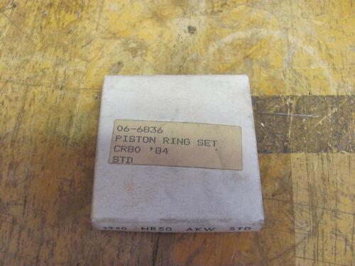 NOS Rocky Cycles Honda CR80 1984 STD  Ring Set 06-6836