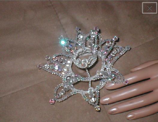 Vintage 1950's Swarovski Crystal Crown Bridal Headpiece