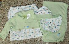 DUCK DUCK GOOSE boys 4-pc Sleeper Blanket Bib Hat Outfit* 0-12 lbs 0-3 months