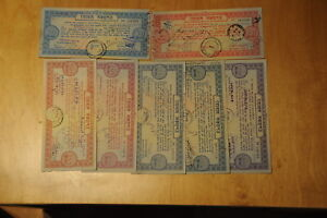 11 . Lot, 7 X Bangladesh Saving Certificates 1970er
