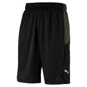 Puma-Energia-Maglia-Rete-11-039-039-Corsa-Shorts-Nero-UOMO-Jogging-Palestra-Fitness