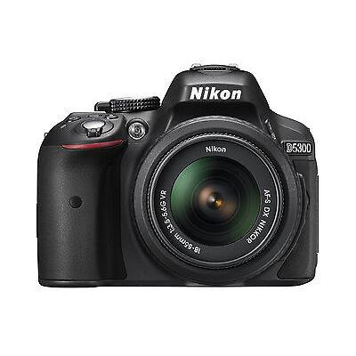 Nikon D D5300 24.2MP Digital SLR Camera - Black (Kit w/ 18-55mm Lens)