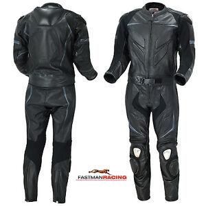 Motorrad-leder-Kombi-034-Black-Wolf-034-2-Teiler-A1-Quailitaet-Gr-M-48