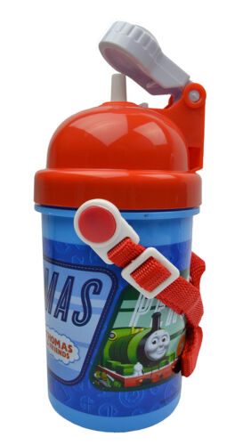 Kids Character Drinking Pop Up Bottles With Strap