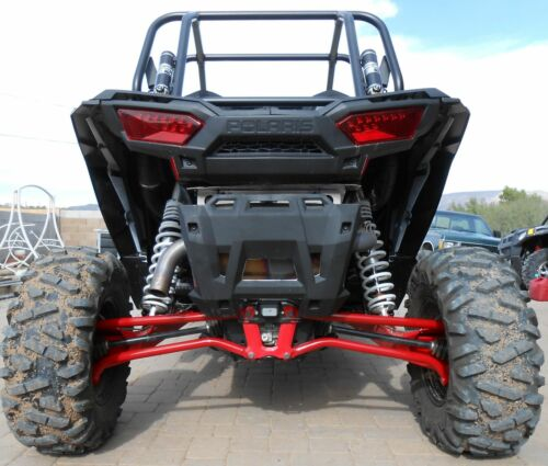REAR upper lower High Max Clearance Radius Bar Kit RED 17-18 POLARIS RZR 1000