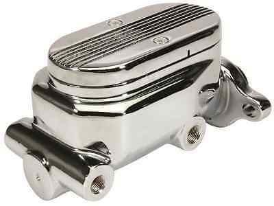 "NEW CPP PREMIUM CHROME FINISH MILLED LID 1/"" BORE MASTER CYLINDER STREET ROD HOT"