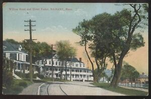 Image Is Loading Postcard Nahant Machusetts Ma Hotel Tudor Willow Road