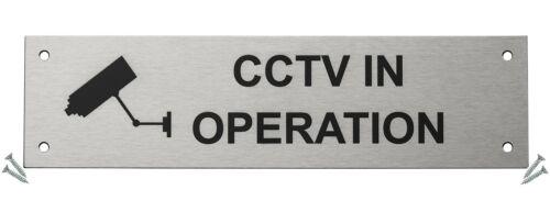 225 x 60 mm-Acier inoxydable sa... Porte coupe-feu Guru ® CCTV en Opération Porte Signe