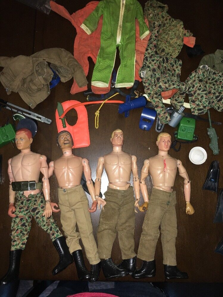 GI Joe Vintage 4 soldiers plus plus plus Rare Helicopter, clothes & accessories  Must See  b830a7