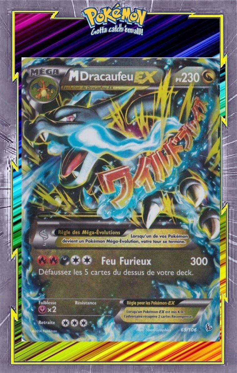 M dracaufeu ex-xy2  sparks - 69 106 - French designer card pokemon