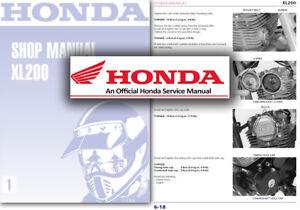honda xl200 service workshop repair manual shop xl 200 factory ebay rh ebay co uk honda xl 200 service manual pdf Fotos De Motocicletas Honda 200