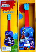 DISNEY MICKEY MOUSE CLUBHOUSE,ACOUSTIC PLAY GUITAR,W/ MICKEY & GOOFY,KIDS 3+,NEW