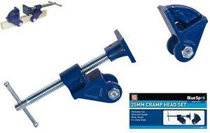 Bluespot 25mm Adjustable Malleable Iron Jaw Clamp Head Set