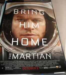 Details About Rolled The Martian Advance 1 Sheet Movie Poster Matt Damon Ridley Scott Sci Fi