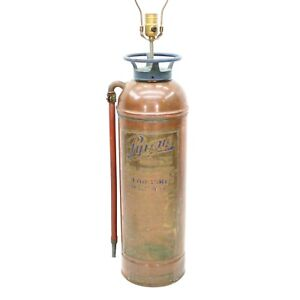 Details About Vtg 35 Copper Br Pyrene Soda Acid Fire Extinguisher Lamp Firefighter Light