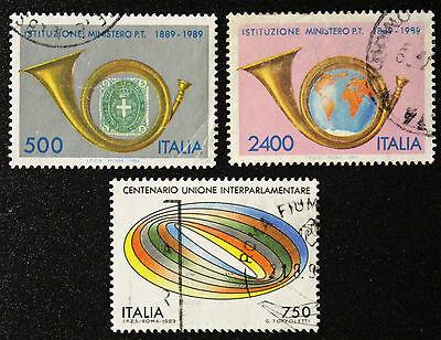 PräZise Briefmarke Italien cyn 16 Yvert Und Tellier Nr.1820 à 1822 Obl d
