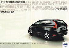 PUBLICITE ADVERTISING 065  2009  VOLVO  XC 60   2 roues motrices ( 2p)