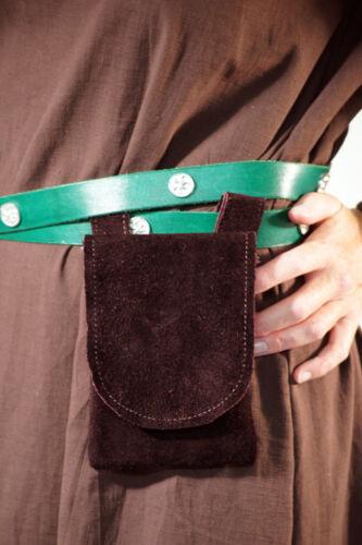 pagane LARP commerciante Archer Pelle Marrone appese Cintura pouch-bag CSA MEDIEVALE
