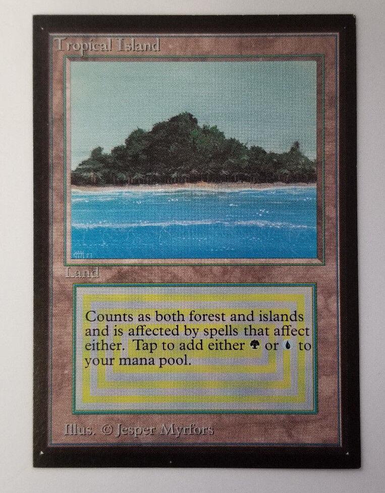 Tropical Island Collector's Edition Beta Reprint Dual Land NM Rare MTG Magic