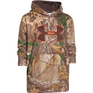 0c3add261f1e2 UNDER ARMOUR Camo Big Logo Hoodie Youth 1249748-947 Realtree Xtra | eBay