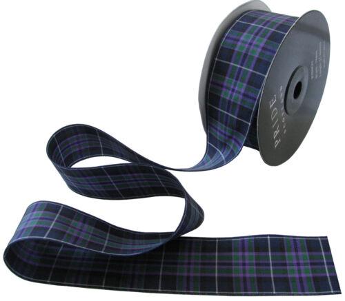 Pride of Scotland Highland Tartan Ribbon;various widths cut lengths /& 25m reels