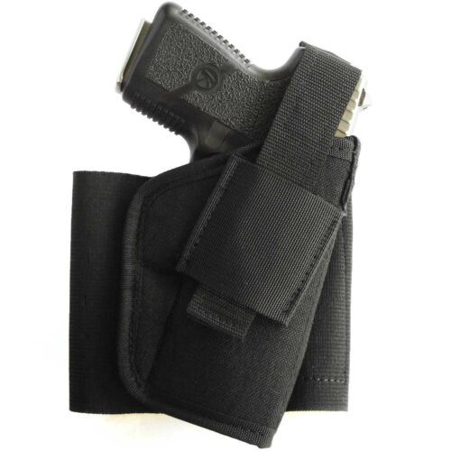 Ankle holster for compact guns S/&WShield,G26,RugerLC9,TaurusG2C LEFT HAND DRAW
