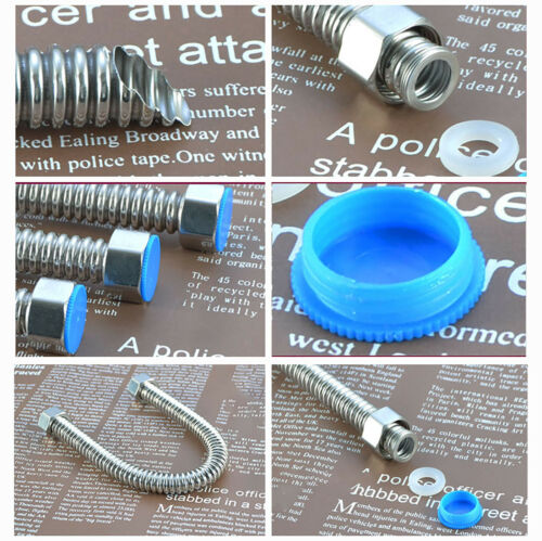 """1//2/"""" Stainless Steel Flexible Hose Water Heater Tap Connectors Explosion proof"""