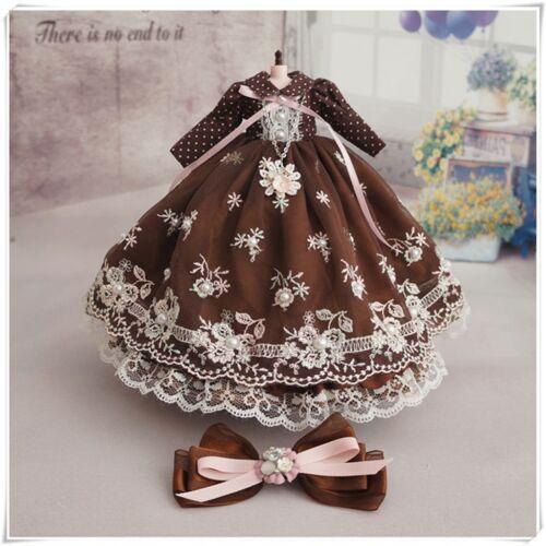 Neo Blythe Doll Handmade Coffee Lace Dress 4 Pieces PF 92#