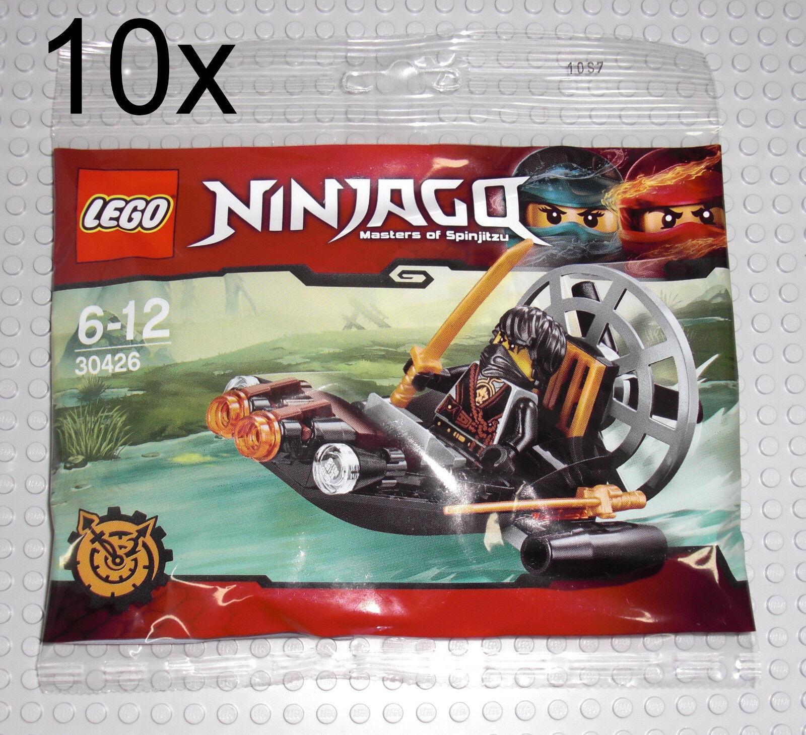 LEGO Ninjago 10x 30426 Coles Sumpfstivali / Luftkissenstivali - Cole PolyBorsa 6176960